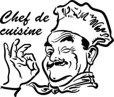 Ici cuisine au beurre uniquement - Chef cuisinier dessin ...