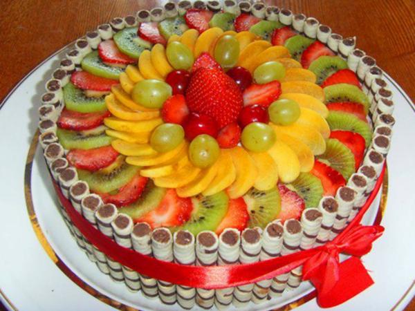 Торт из фруктов своими руками пошагово 231